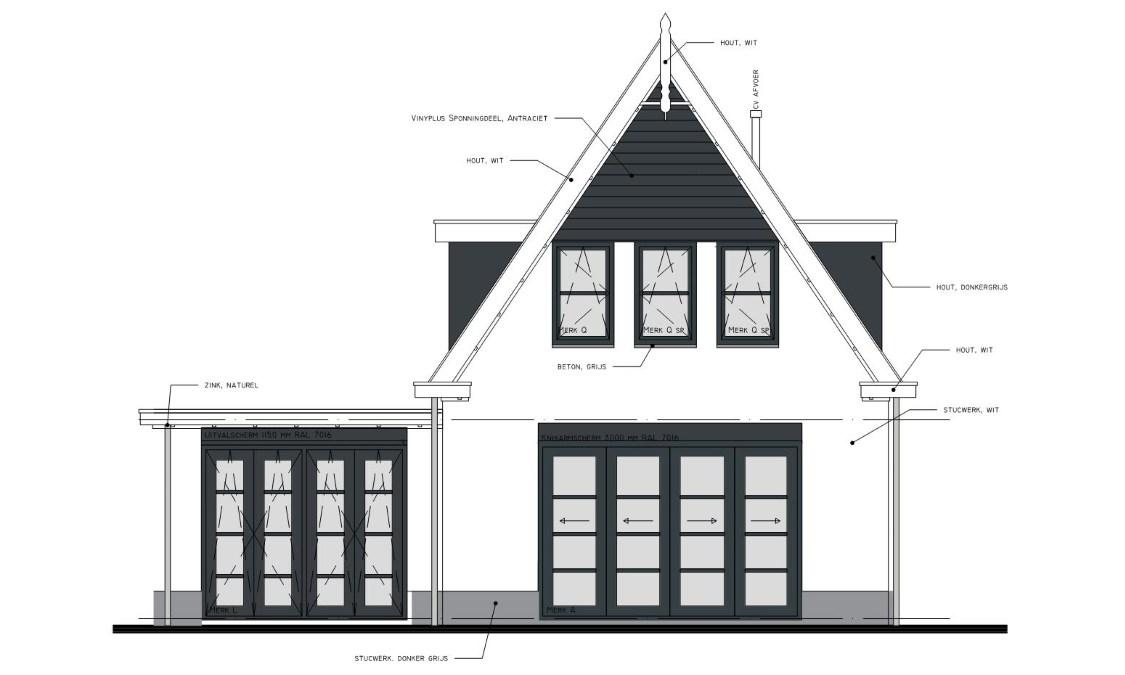 Beste Bouwtekening nieuwbouw huis - Blauwdruk bouw KF-19